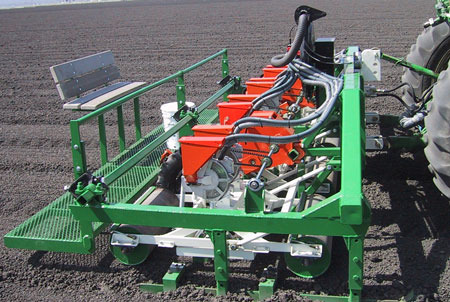 Stanhay vacuum planter in Sutton Ag sled