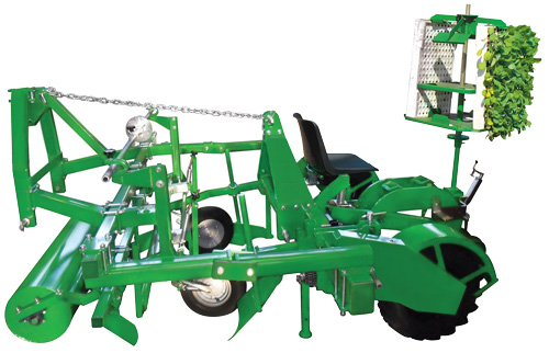 Plantec One transplanter with V190 mulch layer