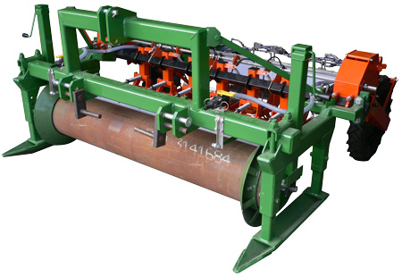 Sled mounted planter with roller & shaper rings