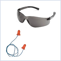Safety equipment for firing bird scaring pyrotechnics