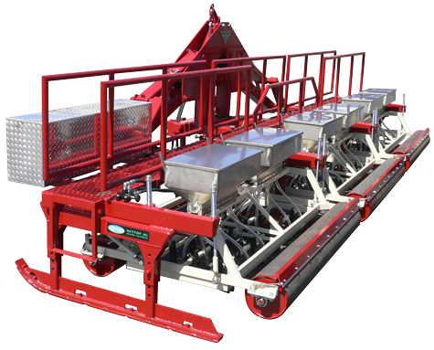 Sutton Seeder in stacker bar