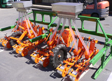 Stanhay S870 planters with Sutton Seeder units
