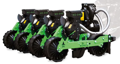 Wizard D series tractor mounted vacuum seeder